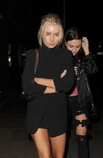 LOTTIE MOSS Leaves Ours Restaurant in Kensington 04/12/2017