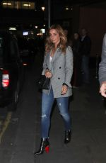 LOUISE REDKNAPP Night Out in London 04/28/2017