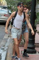 LOURDES LEON in Cutoff Out in Miami 04/12/2017