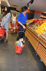 LUANN DE LESSEPS Shoping Groceries at Morton Village Supermarket in New York 04/10/2017