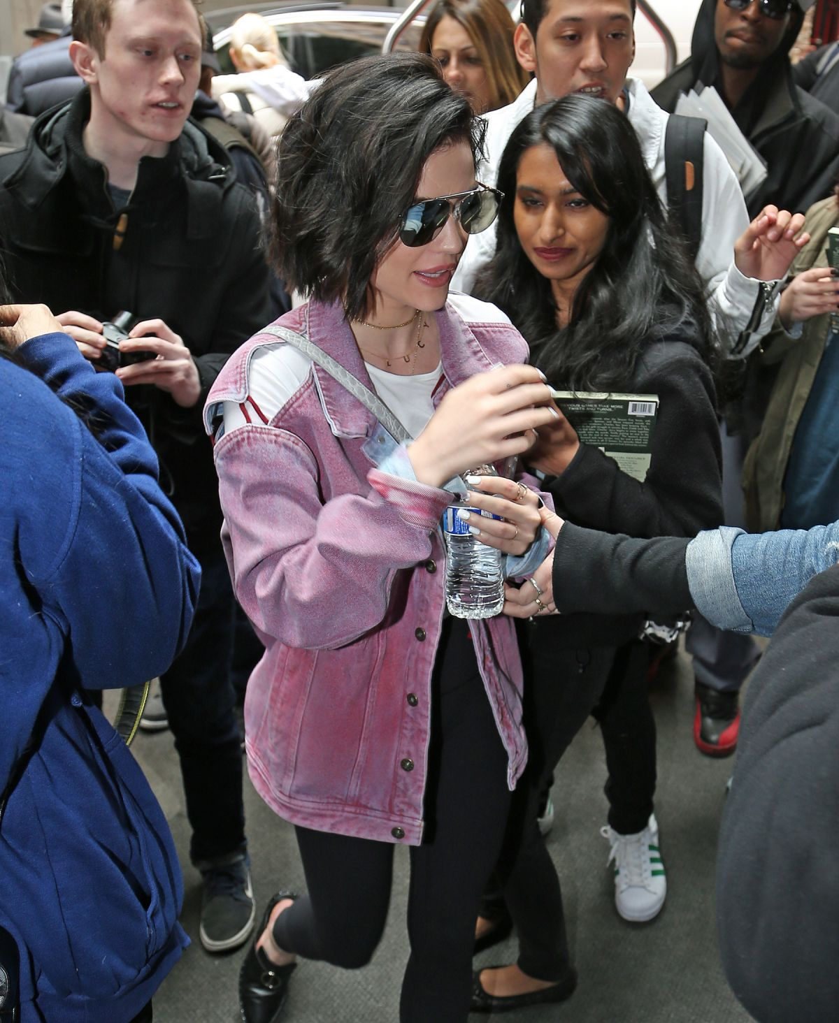 LUCY HALE Arrives at Her Hotel in New York 04/19/2017