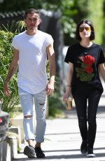 LUCY HALE Drinks a Starbucks Iced Coffee Out in West Hollywood 04/28/2017