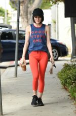 LUCY HALE Heading to a Gym in Los Angeles 04/13/2017