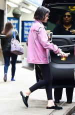LUCY HALE Leaves Starbucks in New York 04/19/2017
