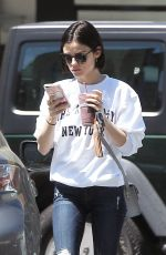 LUCY HALE Out and About in Los Angeles 04/14/2017