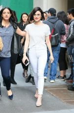LUCY HALE Out and About in New York 04/17/2017