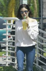 LUCY HALE Out and About in Studio City 04/07/2017