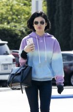 LUCY HALE Out for Coffee in Los Angeles 04/25/2017