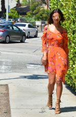 LUCY MECKLENBURGH Out for Lunch in Beverly Hills 04/19/2017