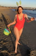 MAITLAND WARD on the Set of Easter Themed Photoshoot in Long Beach 04/15/2017