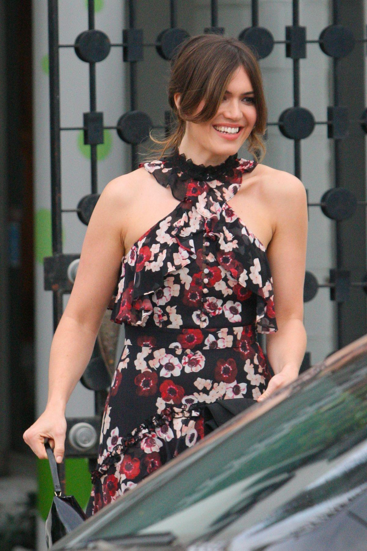 MANDY MOORE Leaves Balayage By Nancy Braun Beauty Salon in Beverly Hills 04/07/2017