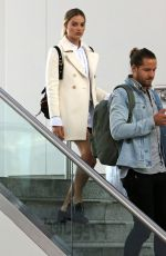 MARGOT ROBBIE and Tom Ackerley at  JFK Airport in New York 04/26/2017