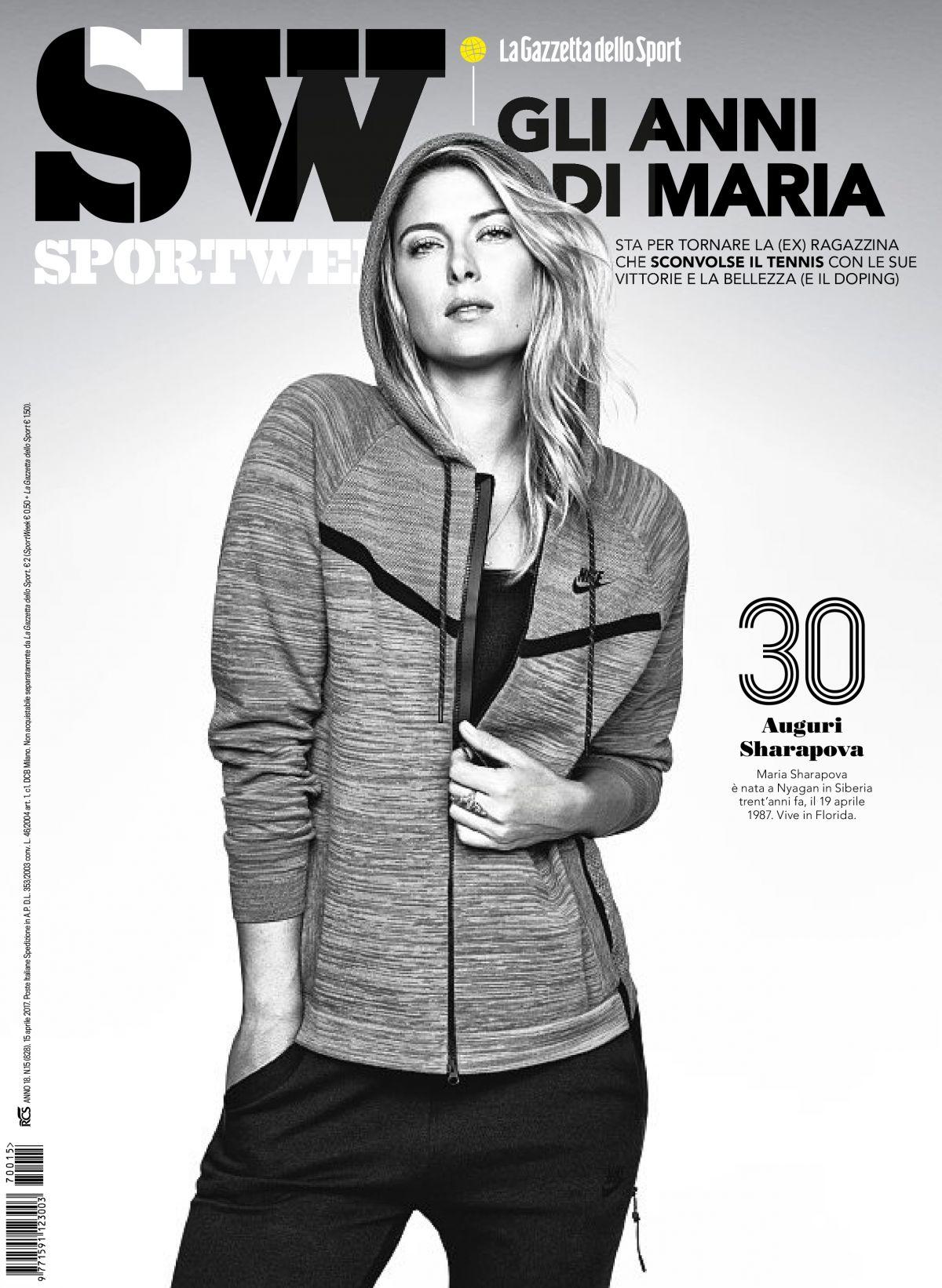 MARIA SHARAPOVA in Sportweek Magazine, Italy April 2017 Issue