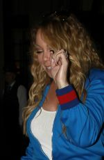 MARIAH CAREY Arrives at Beverly Wilshire Hotel in Beverly Hills 04/19/2017