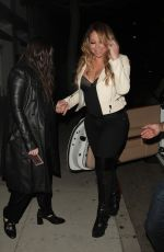 MARIAH CAREY Out for Dinner in Beverly Hills 04/28/2017