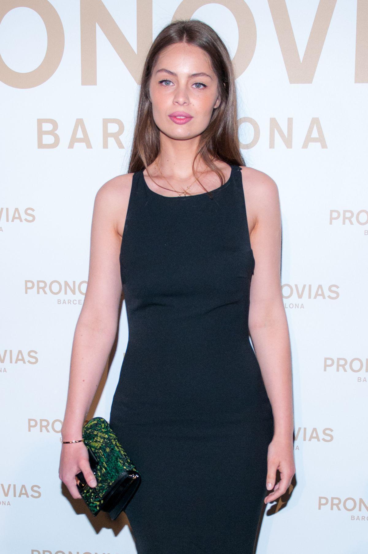 MARIE-ANGE CASTA at Barcelona Photocall at Pronovias Catwalk Show 04/28/2017
