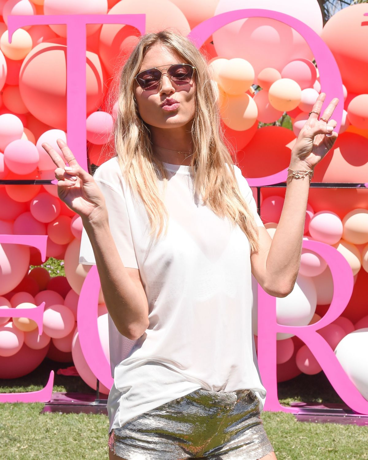 MARTHA HUNT at VS Angel Oasis at 2017 Coachella Music Festival in Indio 04/14/2017