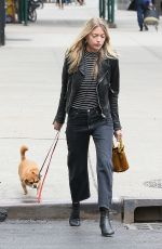 MARTHA HUNT Walks Her Dog Out in New York 04/07/2017