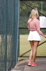 MEGAN MCKENNA and AMBER TURNER  Playing Tennis in Essex 04/20/2017