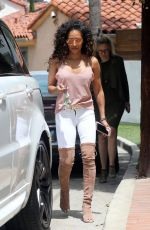 MELANIE BROWN Arrives at Her House That is up for Sale in Los Angeles 04/27/2017