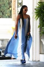 MELANIE BROWN in a Summer Dress Out in Los Angeles 04/19/2017