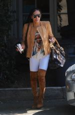 MELANIE BROWN in Over the Knee Boots Out in Los Angeles 04/10/2017