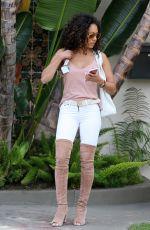 MELANIE BROWN in Overknees Boots Out in Los Angeles 04/26/2017