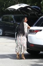 MELANIE BROWN Out and About in Beverly Hills 04/18/2017