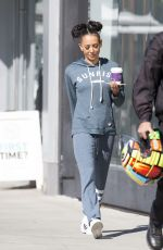 MELANIE BROWN Out for Coffee in Beverly Hills 03/31/2017