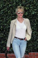 MELANIE GRIFFITH Shopping at Fred Segal in Los Angeles 04/10/2017