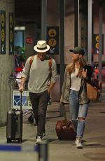 MELISSA BENOIST and Chris Wood Arriving in Vancouver 03/29/2017