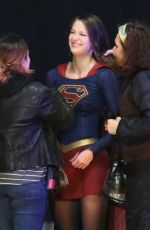 MELISSA BENOIST on the Set of Supergirl in Vancouver 04/27/2017