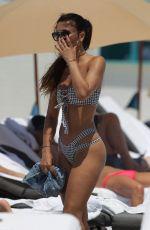 METISHA SCHAEFER in Bikini on the Beach in Miami 04/10/2017