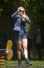 MICHELLE HUNZIKER at a Park in Bergamo 04/29/2017