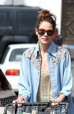 MICHELLE MONAGHAN Out Shopping  in Los Angeles 04/07/2017