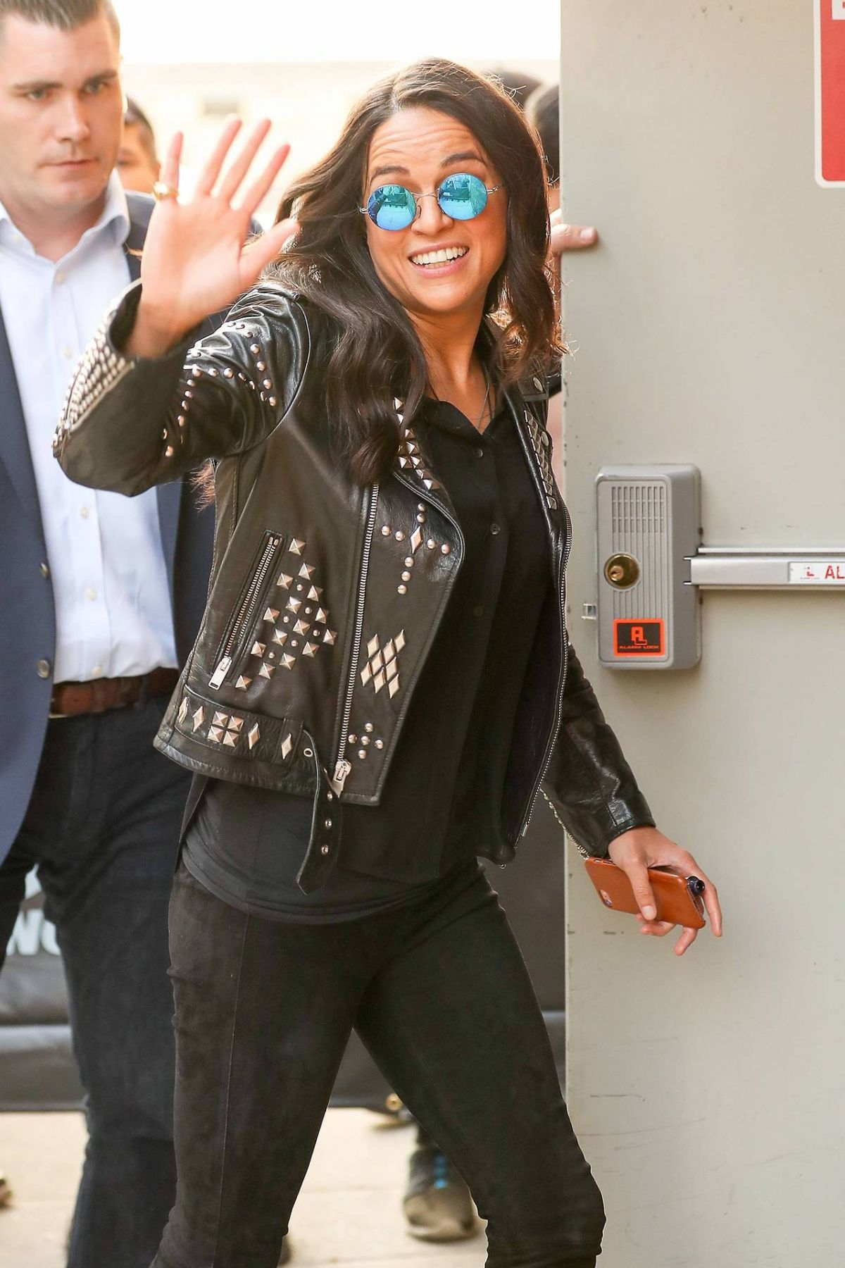 MICHELLE RODRIGUEZ Arrives at Daily Show 04/05/2017
