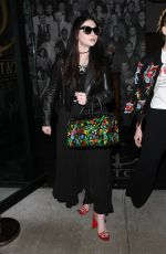 MICHELLE TRACHTENBERG Leaves Catch LA Restaurant in West Hollywood 04/13/2017