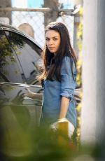 MILA KUNIS Out in Los Angeles 04/18/2017