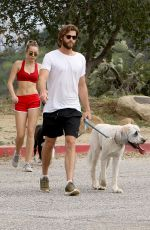 MILEY CYRUS and Liam Hemsworth Out Hiking in Los Angeles 04/08/2017