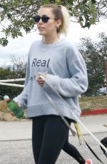 MILEY CYRUS Out Hikking in Studio City 04/13/2017