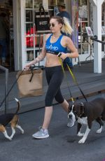 MILEY CYRUS Out with Her Dogs in Los Angeles 04/07/2017