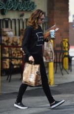 MINNIE DRIVER Shopping at Bristol Farms Market in Los Angeles 04/09/2017