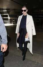 MIRANDA KERR at LAX Airport in Los Angeles 04/04/2017