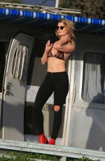 MISCHA BARTON on the Set of 138 Water Photoshoot in Malibu 04/03/2017