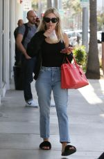 MORGAN STEWART Leaves M Cafe in Beverly Hills 03/31/2017
