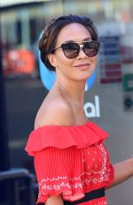MYLEENE KLASS Arrives at Gobal Radio in London 04/29/2017