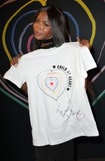 NAOMI CAMPBELL at Child at Heart Collection by Diesel and Naomi Campbell Launch 04/20/2017