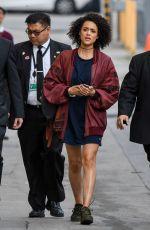 NATHALIE EMMANUEL Arrives at Jimmy Kimmel Live! in Los Angeles 04/06/2017