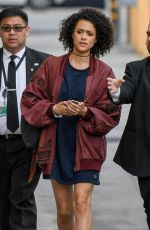 NATHALIE EMMANUEL Arrives at Jimmy Kimmel Live! in Los Angeles 04/06/2017