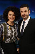 NATHALIE EMMANUEL at Jimmy Kimmel Live 04/06/2017